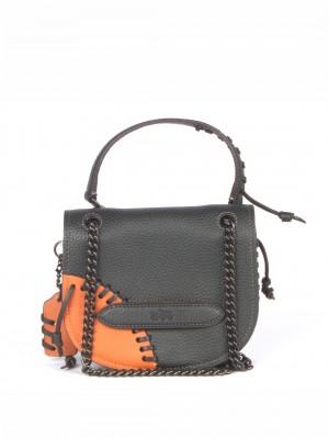 COACH Rip and Repair Small Shadow Crossbody Bag – Orange/Black