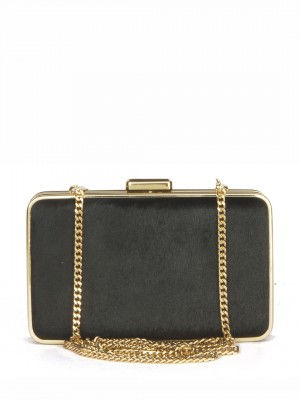 MICHAEL Michael Kors Elsie Calf Clutch Bag – Black