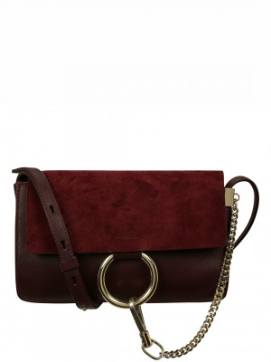 CHLOE Faye Small Shoulder Bag In Smooth And Suede Calfskin – Plum Purple