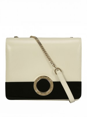 BVLGARI BVLGARI Flap Cover Shoulder Bag – Black & White