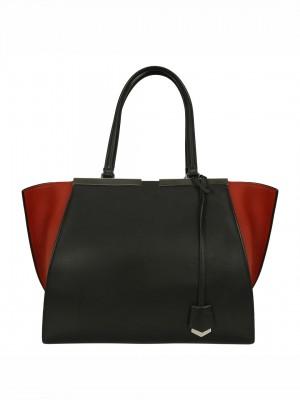 FENDI 3 Jours Shopper Tote Bag - Black / Red