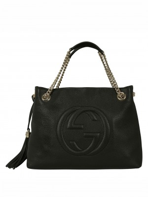 GUCCI Soho Chain Tote Bag – Black