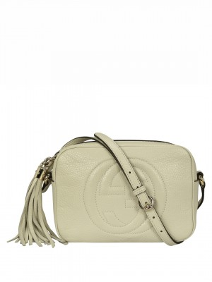 GUCCI Soho Small Leather Disco Bag – White