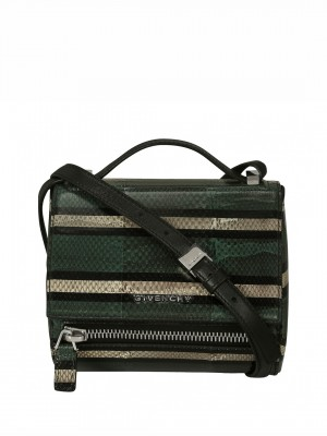 GIVENCHY Pandora Box Mini Leather Shoulder Bag - Green