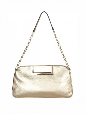 MICHAEL Michael Kors New Berkley Large Clutch Shoulder Bag - Pale Gold