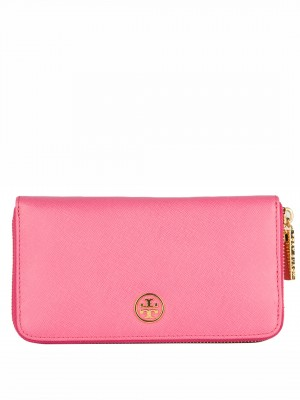 TORY BURCH Robinson Continental Wallet – Pink