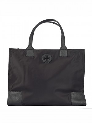 TORY BURCH Ella Packable Nylon Tote Bag - Black
