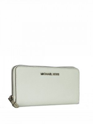 MICHAEL Michael Kors Jet Set Continental Wallet- Optic White