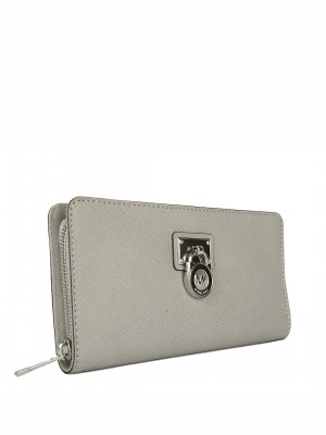 MICHAEL Michael Kors Hamilton Traveller Large Zip Around Wallet – Pale Grey
