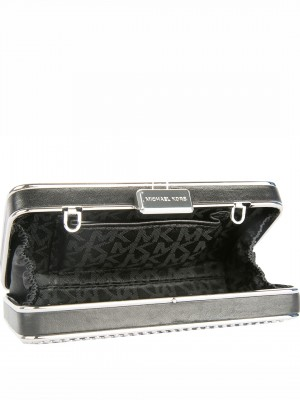 MICHAEL Michael Kors Elsie Micro-stud Box Clutch – Black