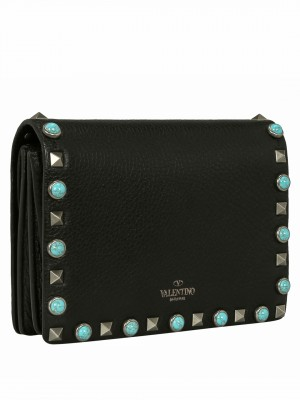 VALENTINO Rockstud Rolling Crossbody Bag – Black