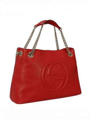 GUCCI Soho Chain Tote Bag – Red