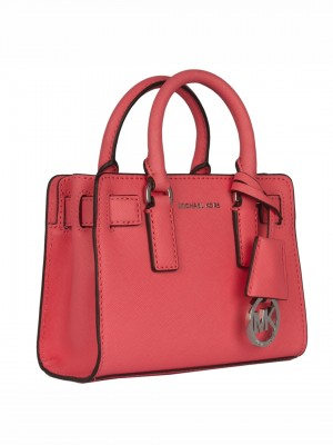 MICHAEL Michael Kors Dillon Top Zip Small Leather Satchel - Coral Pink