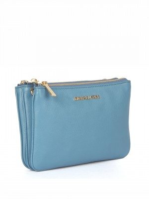MICHAEL Michael Kors Women's Bedford Gusset Crossbody Bag - Blue