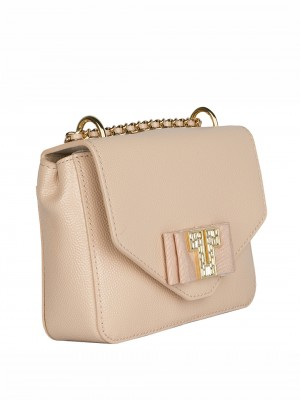 TORY BURCH Kira Deco-T Mini Chain Leather Crossbody Bag – Light Pink