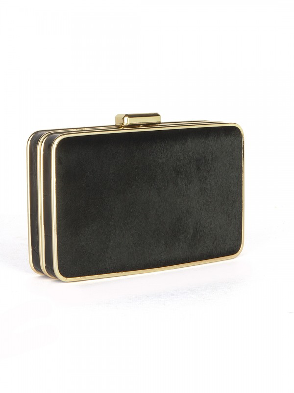 MICHAEL_Michael_Kors_Elsie_Calf_Clutch_Bag_Cross_Left
