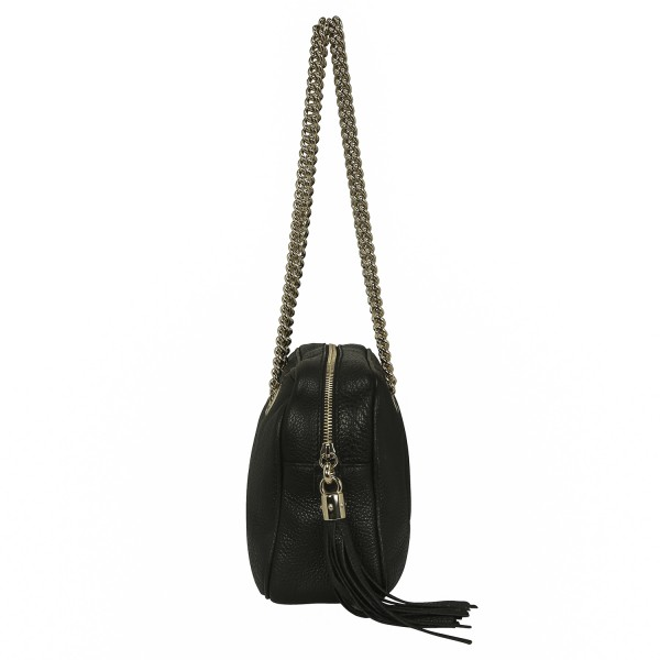 GUCCI_Pebbled_Calfskin_Small_Soho_Chain_Shoulder_Bag_Side